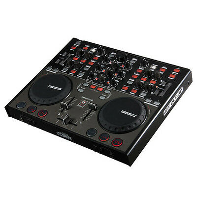 [B-WARE] Profi USB MiDi Controller für Laptop DJs mit Audio Interface & Traktor