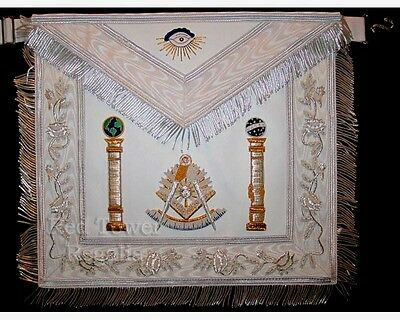 Details about MASONIC REGALIA PAST MASTER APRON WHITE Email to friends Share o