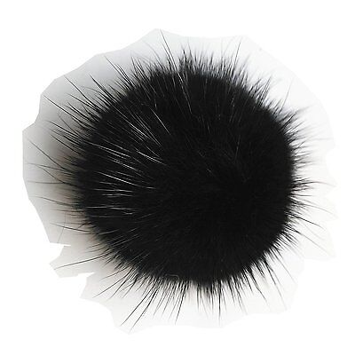ERaBLeTM Shoe Clips for Women Shoes Decoration with Fur pom pom 1 pair Black
