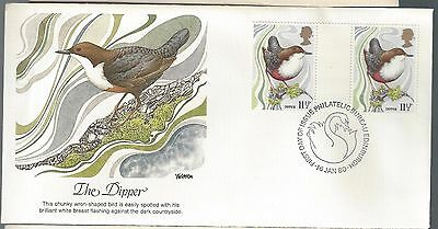 1980 Great Britain Birds Issue FDC The Dipper