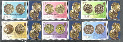 Jersey Ancient coinage-mnh set