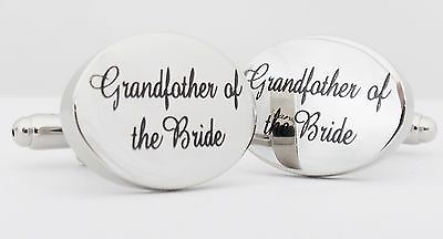 Wholesale Job Lot 40x Pairs Silver OVAL Grandfather of the Bride Cufflinks