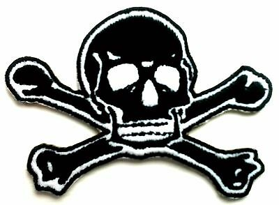 Skeleton Skull Embroidered Patches Iron Sew On Bag Cap Jeans Rock Jacket Badge