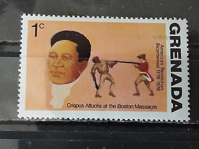 Timbre neuf Grenada : Crispus Attucks at the Boston Massacre (US)