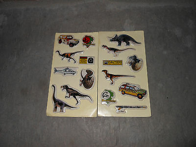 Jurassic Park 1993 Puffy Stickers opened but unused