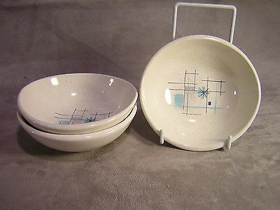 "3 Franciscan OASIS 4 7/8"" Bowls ~ Mid Century ~ Made in California"