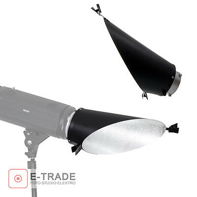 Silver Background Reflector With Interchangeable Fitting (Bowens S-Type Fitting)