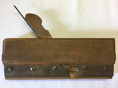 Antique Wood Molding Plane Adjustable Fence Carpentry Tool