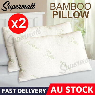 1X 2x Bamboo Contour Pillow Memory Foam Anti-bacterial 70 x 40CM Vertebra Care