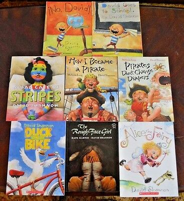 Set of 8 PB Picture Books By David Shannon Accelerated reader teacher class L1