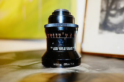 Rank Taylor Hobson Cooke Vidital  f1.3 T1.5 12mm c-mount lens !!!ultra Rare!!!