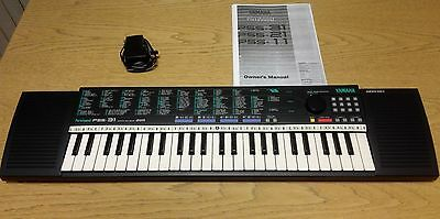 Yamaha PortaSound PSS-31 Keyboard with Mains Adapter and Owners Manual