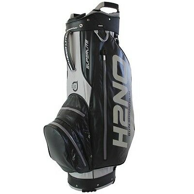 Sun Mountain H2NO Superlight Waterproof Cart Bag 10 Way Divider Black & Silver
