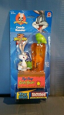 Bugs Bunny Skittles Candy Hander New In Box 1998 Warner Bros Looney Tunes #4770
