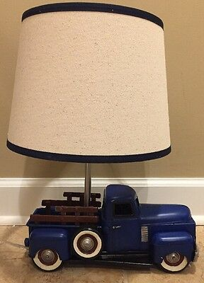 NEW Pottery Barn Kids Truck Complete Lamp BLUE
