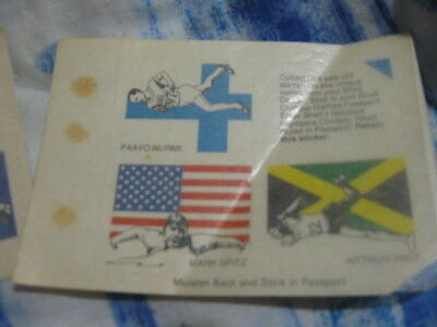 2 Pages Of Stamp-Sixed Olympic Games Memorabilia. Each 'stamp' A Flag & Sport!