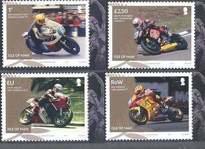 Isle of Man-TT Races 2017 Motorcycles Postcard set mnh