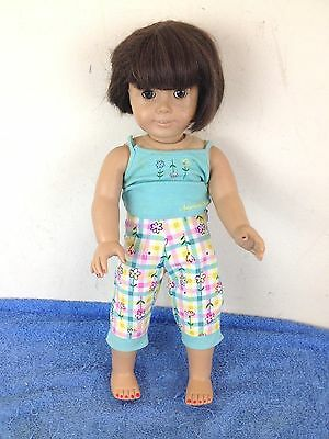 "Pleasant Company American Girl 18"" Doll Brown Eyes Short Brown Hair"