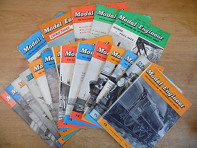 19 x The Model Engineer Magazines 1961/62 Job Lot Vol.125/126/127