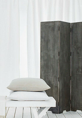 French Connection Home Mango Wood Folding Screen Room Divider Scandi chic