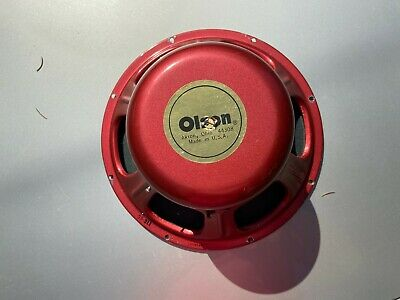 Vintage Olson SS-311 Red 12-inch Coaxial Speaker 16-ohm Tested Working