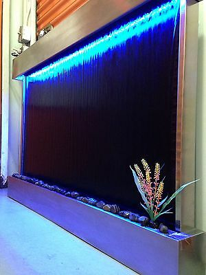 "WALL WATERFALL XXL 52""x35"" St Steel ,Black Mirror Color Lights, Remote Ctrl SALE"