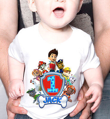 Paw Patrol Personalized - Birthday T-Shirt Party Favor