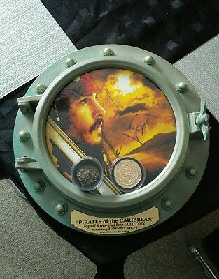 pirates of the caribbean Authentic signed Film prop movie prop coin and nugget