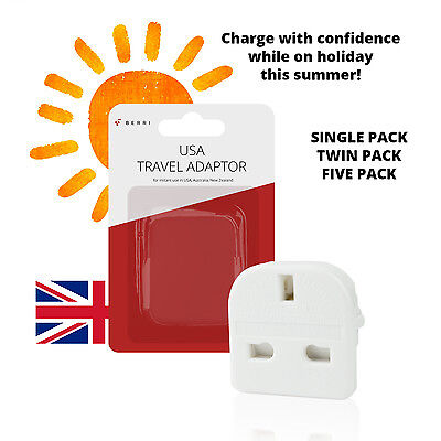 Uk To Usa Us America Australia New Zealand Tourist Travel Plug Power Adaptor