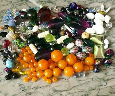 Job Lot Of Vintage Beads For Jewellery Making Etc
