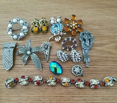 Job Lot Of Vintage Jewellery For Spare Repair