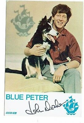 John Noakes TV Presenter Blue Peter Vintage Hand Signed Photograph 6 x 4