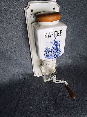 Vintage German Dutch PeDe Peter Dienes Wall Coffee Grinder Mill Kaffee Delft