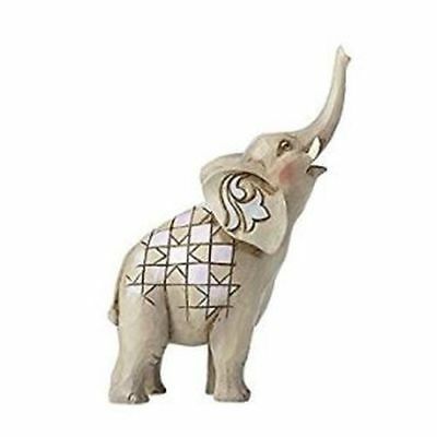 New Enesco Mini Elephant with Raised Trunk Figurine