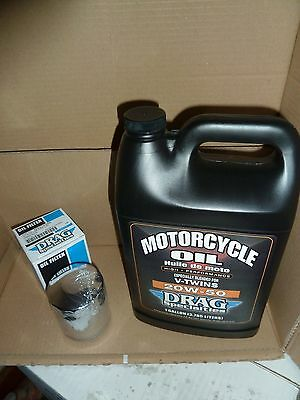 1 Us Gallon Of Oil'  Chrome Filter For Harley-Davidson Twin Cam 1999 To Present