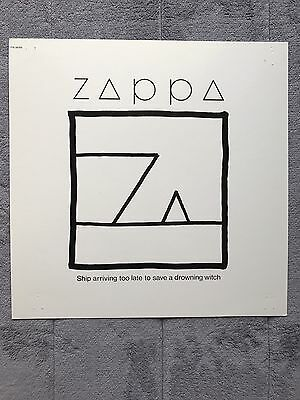 Frank Zappa Ship Arriving Too Late...RARE promo 12 x 12 poster flat