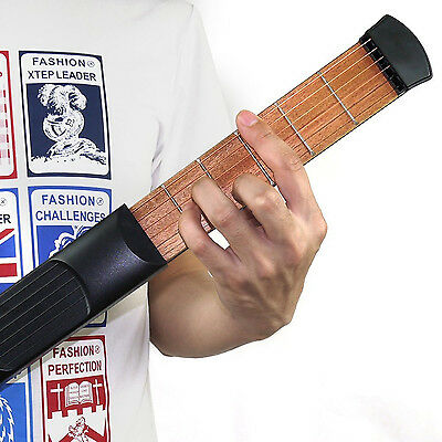 Guitar Practice Strings Tool Black Yafine Fret Portable Wooden Pocket Fit Hand