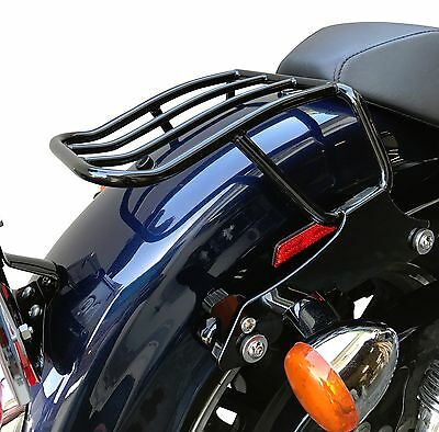 Black Solo Detachable Luggage Rack For Harley Sportster 1200 Iron 883  2004-2017