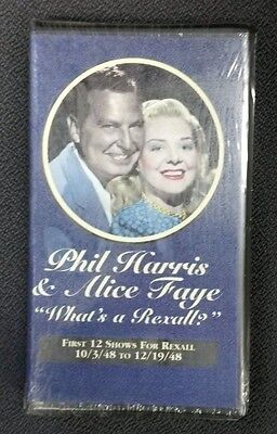 PHIL HARRIS & ALICE FAYE What's a Rexall? NEW Audiobook Cassette First 12 Shows