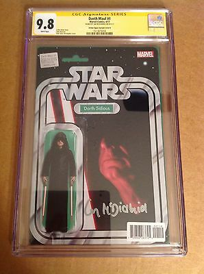 CGC 9.8 SS Star Wars Darth Maul #1 Sidious Figure Variant signed Ian McDiarmid