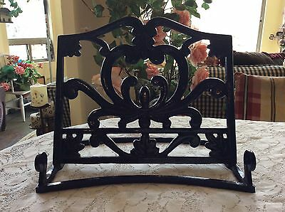Heavy Enamel Cast Iron Display Easel~Book Stand~Bible Holder~Cookbook Stand BLUE