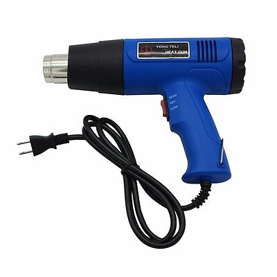Heat Gun Hot Air Dual Temperature + 4 Nozzles Power Tool 1500 Watt W Heatgun US