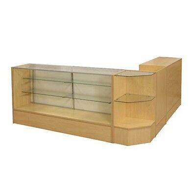 #sccombo-M Showcase Glass Display Case Check Out Counter Set **brand New**