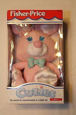 NIB Vintage Rare HTF Fisher Price Cozies Pink Thermal Bunny Plush Toy 1996