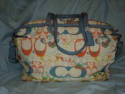 Coach Optic Signature Butterfly Diaper Bag Tote With Coin Purse A1149-F17437