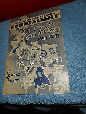 1939 RHODE ISLAND AUDITORIUM ICE FOLLIES SPORTSLIGHT SPECIAL EDITION Local ADS