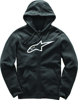 New Mens Alpinestars Ageless Zip Up Fleece Hoody Sweatshirt Black Blue Red Grey