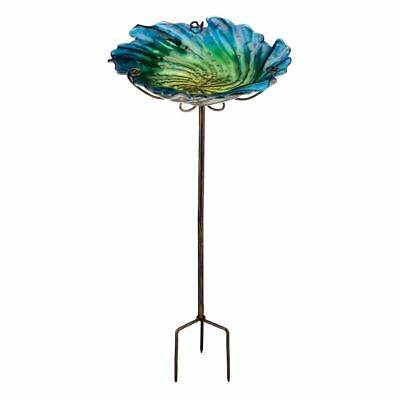 Regal Birdbath/Feeder withStake - Blue