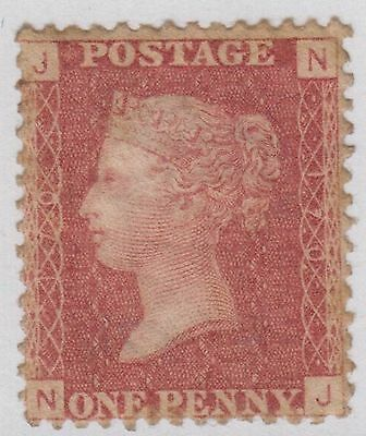 """GB QV 1d Red SG43 / SG44 Plate 170 Penny Red """"NJ"""" 1858-79 Unused Stamp PL170"""