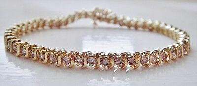14Ct Yellow Gold Diamond Bracelet, 3Cts